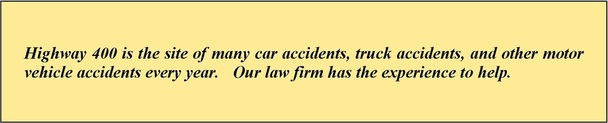 Higway 400 Car Accident Lawyer